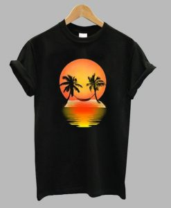 Funny Sunset Smiles And Palm T Shirt ZNF08