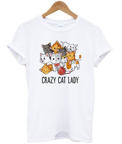 Grazy Cat Lady Cute Cats T-shirt ZNF8