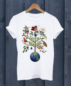 Green New Deal T Shirt ZNF08
