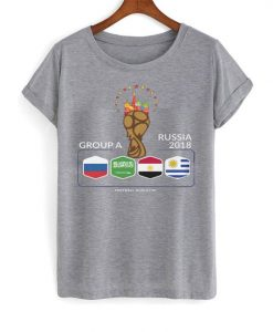 Group A of the Russia 2018 T Shirt ZNF08