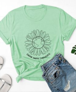 Grow Happy Thoughts T-Shirt ZNF08
