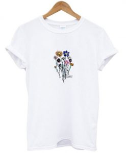 gnarly flowers t-shirt ZNF08