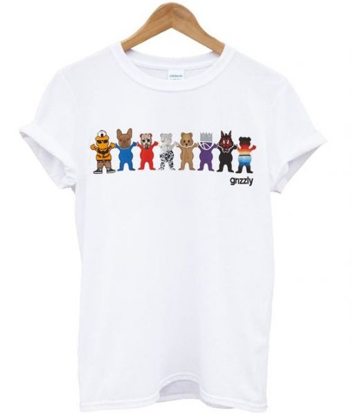 grizzly squad t-shirt ZNF08