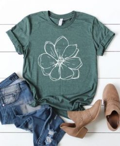 Magnolia Flower Shirt