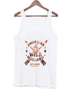 american wild mustang est 1999 tank top