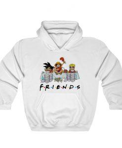 Anime Friends Son Goku Luffy Naruto Hoodie THD
