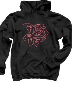 Black rose hoodie THD