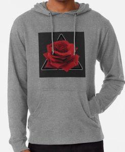 Dark Red Rose Hoodies THD
