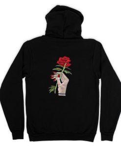 Red Rose Black (Back )Hoodies THD