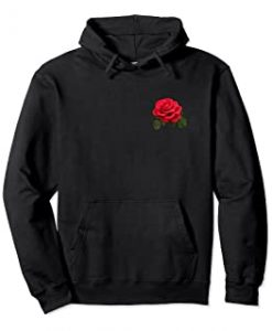 Red Rose Pullover Hoodie THD