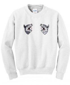 Two Wolf Sweatshirt KM - Copy - Copy - Copy
