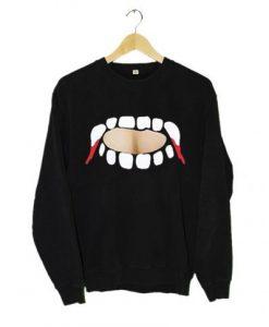 Vampire teeth keyhole Sweatshirt
