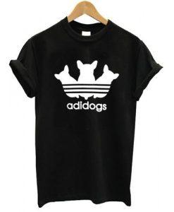 adidogs funny parody tshirt Black