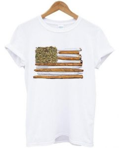 american flag blunt T shirt