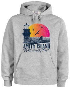 amity island welcomes you hoodie THD
