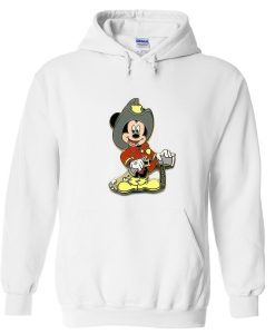 mickey fire fighter hoodie