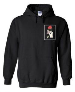 rose hand hoodie THD
