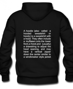 vetements definition A HOODIE CAN ALSO (BACK)THD