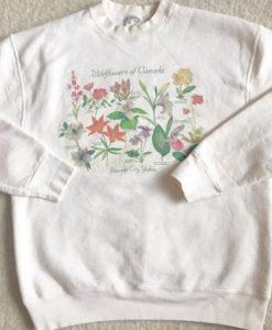 wild flowers of canada sweatshirt