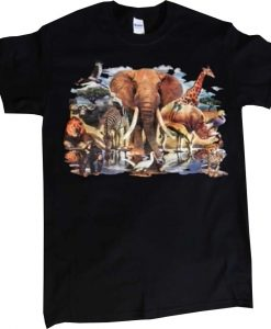 African Animal Oasis T Shirt THD
