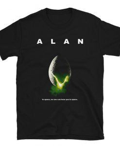 Alan – In Space, No One Can Hear You In Space Short-Sleeve Unisex T-Shirt THD