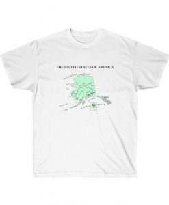 Alaska Map United States of America AK USA Tshirt THD