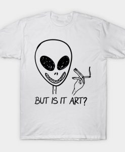 Alien But Is It Art Alien Smoking T Shirt THD