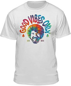 Bob Ross Good Vibes Only t-shirt thd