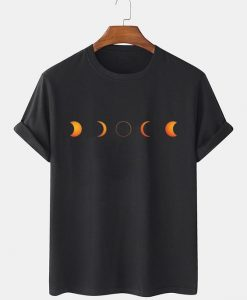 Color Moon Pattern T-SHIRT THD