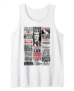 Edgar Allan Poe Shirt Poems TANK TOP THD