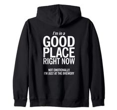 I'M IN A GOOD PLACE HOODIE BACK THD