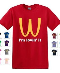I'M LOVIN' IT MCDONALD'S PARODY BOOBIES SHIRT THD