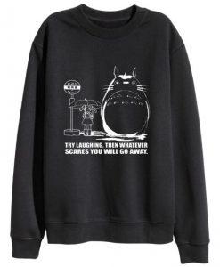 My neighbor Totoro Black Crewneck Sweatshirt