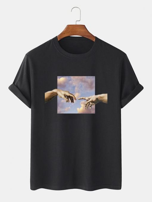 Oil Painting Casual T-Shirt THD