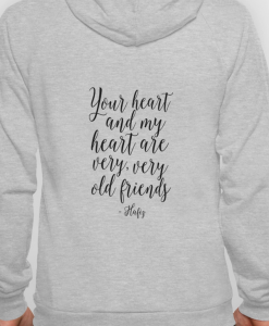 YOUR HEART AND MY HEART (BACK)HOODIE THD