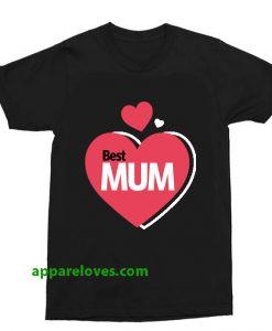 Best Mum Design t shirt thd