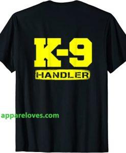 Dog Handler Logo K9 t shirt thd
