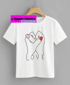 LOVE HANDS FINGER T-shirt THD