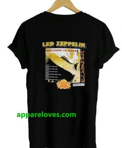 Led Zeppelin Welcome to Japan T Shirt(Back only)thd