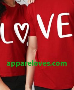 Love Heart Couple T-Shirt thd