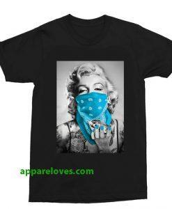 Marilyn Monroe Blue Bandana T Shirt thd