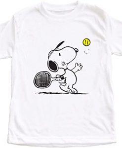 Peanuts Snoopy Tennis T SHIRT THD