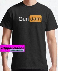 Porn Hub GUN DAM T-Shirts THD