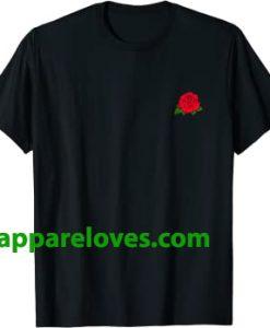 Red Rose Pocket print T-Shirt thd