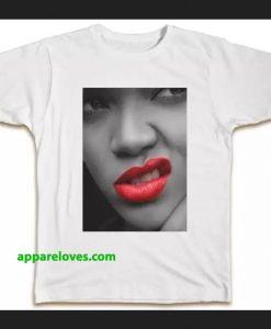 Rihanna lips T-shirt thd