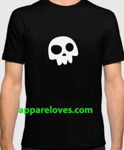 Skull Head logo with Three Teeth t shirt thd