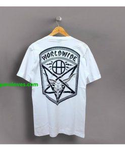 THRASHER HUF WORLDWIDE t shirt (back) thd