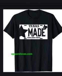 Texas Made Lone Star License Plate T-Shirt thd