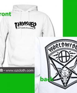 Thrasher Huf Worldwide Hoodie thd (2side)