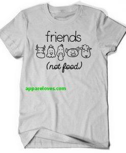Vegan Shirt Friends Not Food Shirt thd